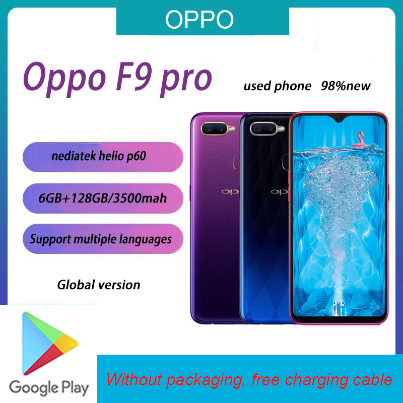 Б/у 98% Новый OPPO F9Pro 64 Гб/128 ГБ Полный netcom телефон android8.1 nediatek helio p60 6,3 дюйма resolution2340 * 4080 смартфон