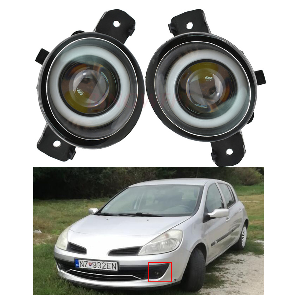2x LED Fog Light Angel Eye Daytime Running Light For <font><b>Renault</b></font> <font><b>Koleos</b></font> Laguna Master Symbol Modus Clio Thalia Wind Vel Satis Espace image