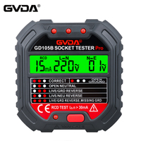GVDA Steckdose Tester Spannung Detektor Elektrische Circuit Breaker Finder Boden Null Linie US EU UK Stecker Polarität Phase Überprüfen