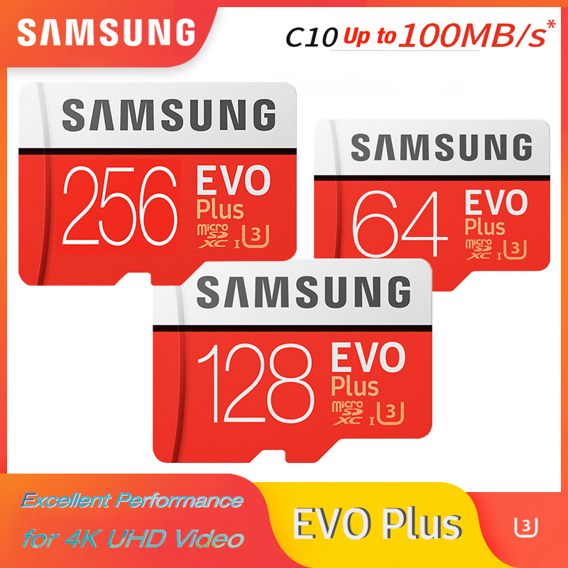SAMSUNG Microsd Card 256G 128GB 64GB Up To 95Mb/s U3 Class10 32GB U1 MicroSDXC/SDHC EVO Plus Micro SD Card Memory Card TF Flash