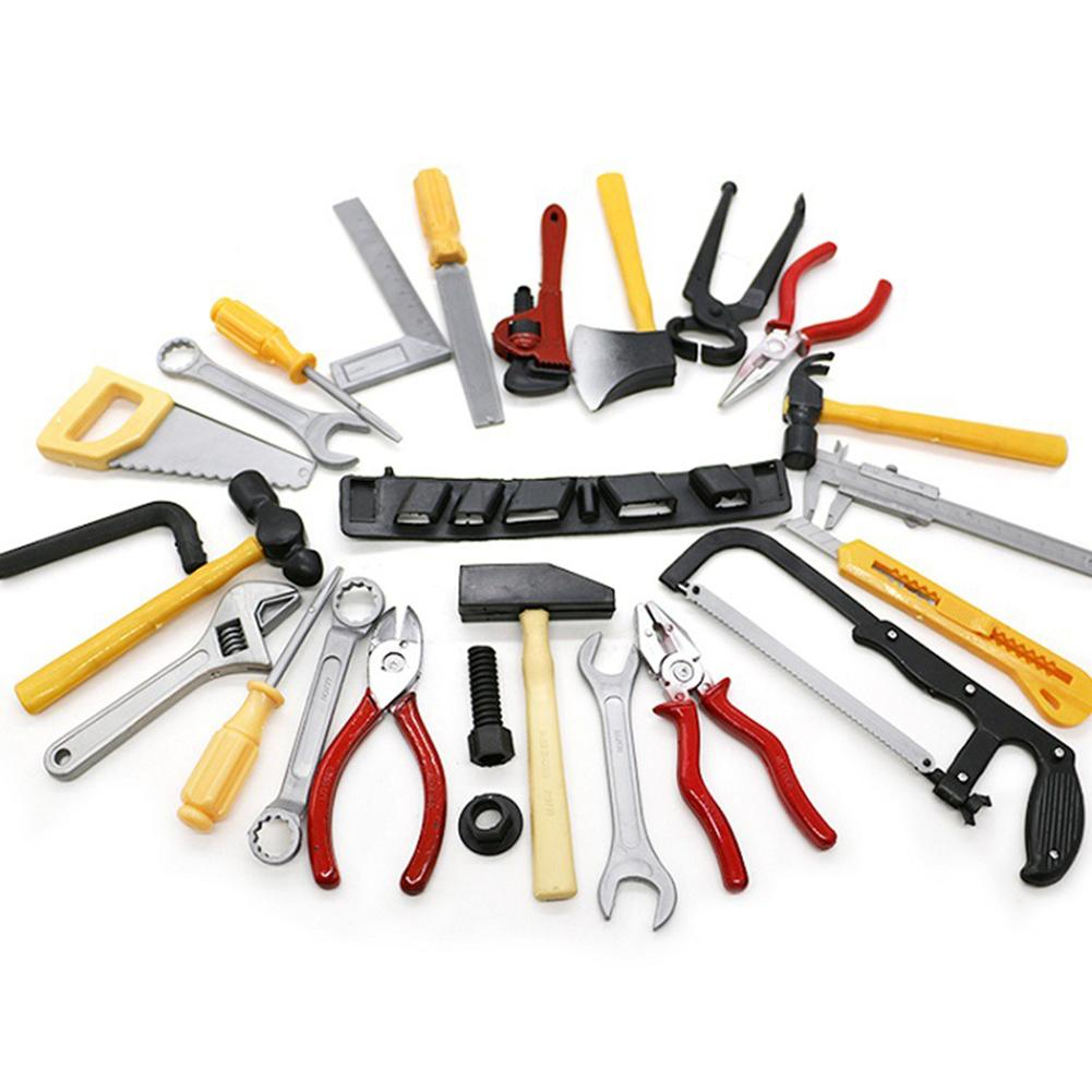 14Pcs Simulation Wrench Pliers Saw Hammer Repair Tool Set DIY Kids Funny Puzzle Toys Pretend Toy