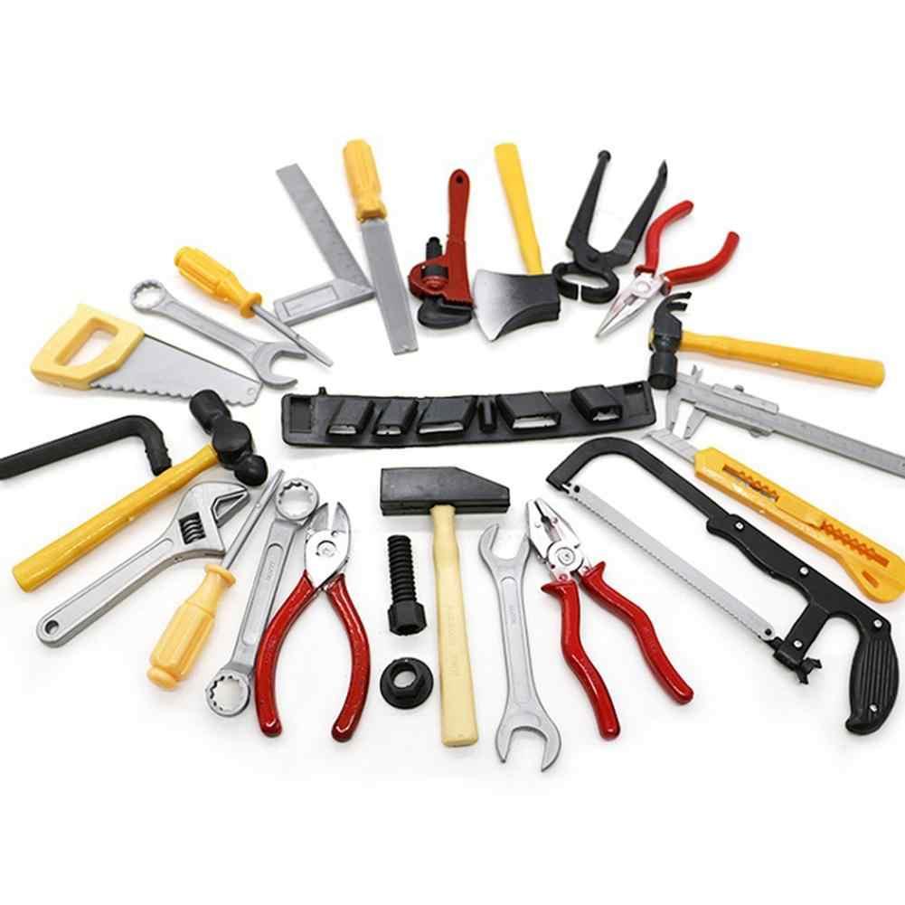Conjunto de herramientas de reparación de martillo de sierra de alicates de simulación de 14 Uds DIY Juguetes Divertidos de rompecabezas para niños juguete de simulación