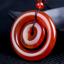 Природа красный кулон calcedony кольцо Пряжка амулет халцедон кулон талисман