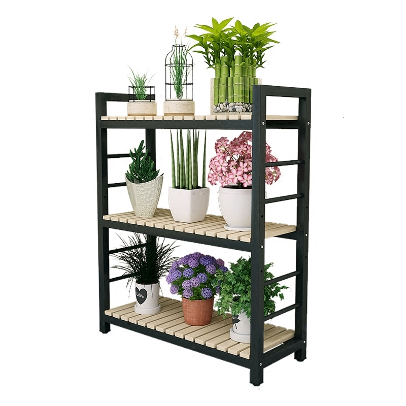 Iron Art Flower Rack Multi-storey A Living Room Balcony European Style Indoor Flower Rack Shelf