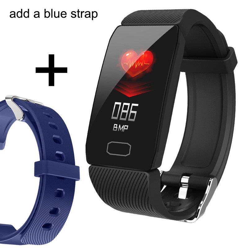 Add a blue strap