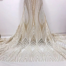 Good Quality Hot Sale Nigerian White Wedding Tulle Dubai Lace  African French Net Mesh Fabric withSmall Sequin Fabircs for Women