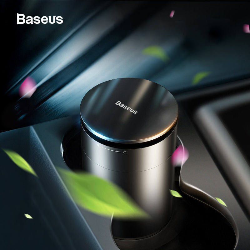 Baseus Strong Perfume Car Air Freshener Aromatherapy Cup Holder Auto Purifying Aroma Diffuser With Formaldehyde Purification title=