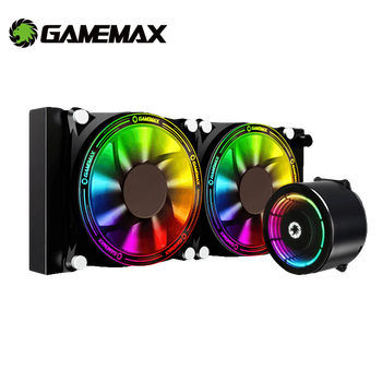 GameMax RGB CPU Cooler All in One Water Cooling for Intel LGA 2066 2011 V3 115X 775 AMD AM4 AM3+ AM3 FM2+ FM2 PC Fan CPU Cooling bykski cpu cooler for amd ryzen 3 5 7 am2 am2 am3 am3 am4 ryzen threadripper processor water block rgb argb cpu xph t8 m