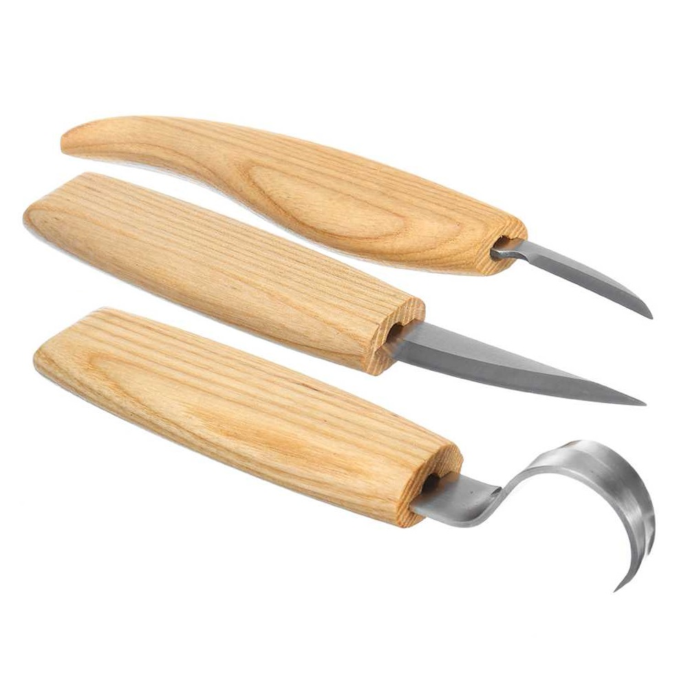 2/3Pcs Wood Carving Knife Set Spoon Chisels Hand Tools Knives Woodworking Stainless Steel Cutter Hook Woodcut Woodcarving Tool