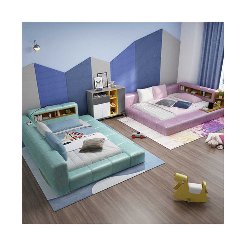 Hot Selling Modern Multifunction Pink Genuine Leather Bed Bedroom Furniture Sets Aliexpress