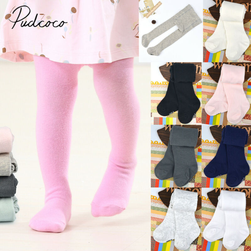 Baby Girls Tights Toddlers Cable Knit Leggings Kids Cotton Stockings Infant Pants Socks 0-3T