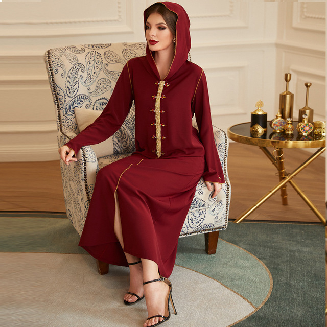 Eid Abayas for Women Dubai Abaya Turkey Muslim Maxi Hijab Dress Caftan Marocain Moroccan Kaftan De Moda Musulmana Djellaba Femme 1