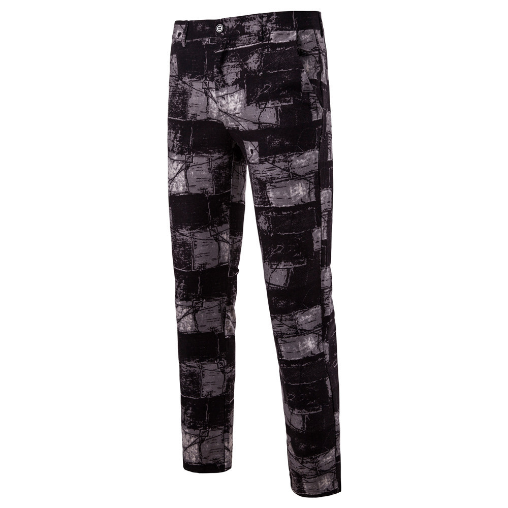 Man Nation Wind Printing Western-style Trousers K63