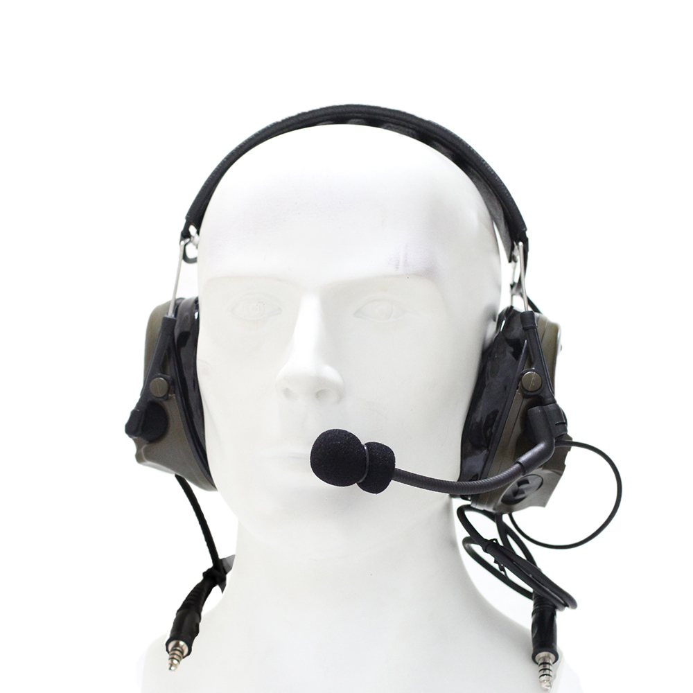 Outdoor Hunting Tactical Headset TAC-SKY COMTAC III Silicone Earmuff Version Noise Reduction Pickup Military Earphone -FG/CB