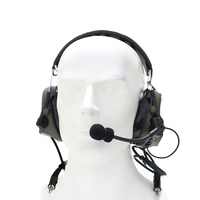 Outdoor Hunting Tactical Headset TAC SKY COMTAC III Silicone earmuff version Noise reduction pickup Military Earphone FG/CB