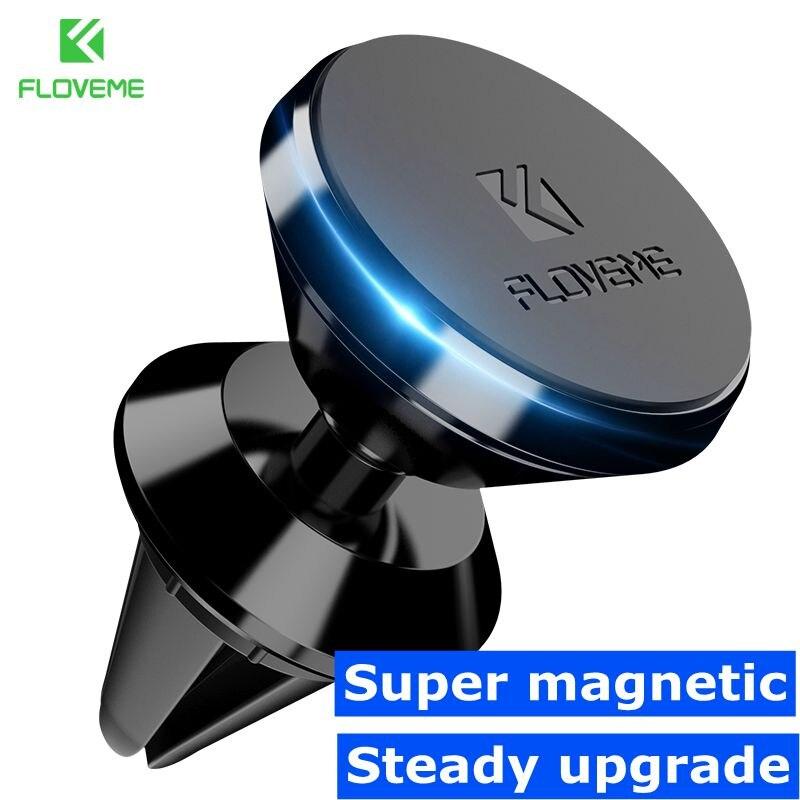 FLOVEME Magnetic Car Holder For Samsung S8 S9 A5 J5 2017 360 Degree GPS Navigation Air Vent Mount Phone Holder For Phone In Car