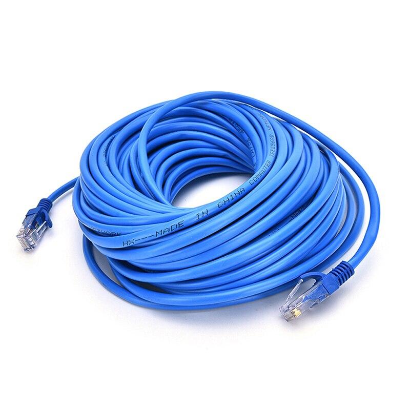 Синий Ethernet Интернет LAN CAT5e сетевой кабель для компьютерного модемного маршрутизатора