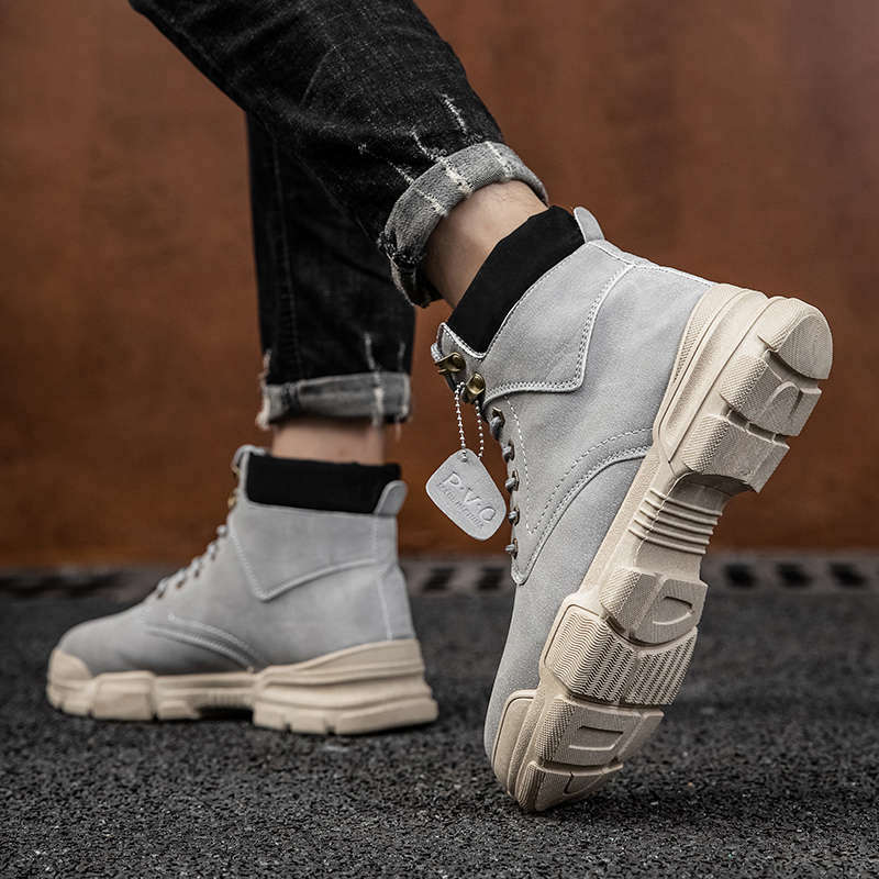 Energetic Casual Men Boots Fashion Man Leather Shoes Ankle Boots Doc Cowboy Waterproof Motorcycle Comfort Lace Up Coturno Botas Hombre Z2