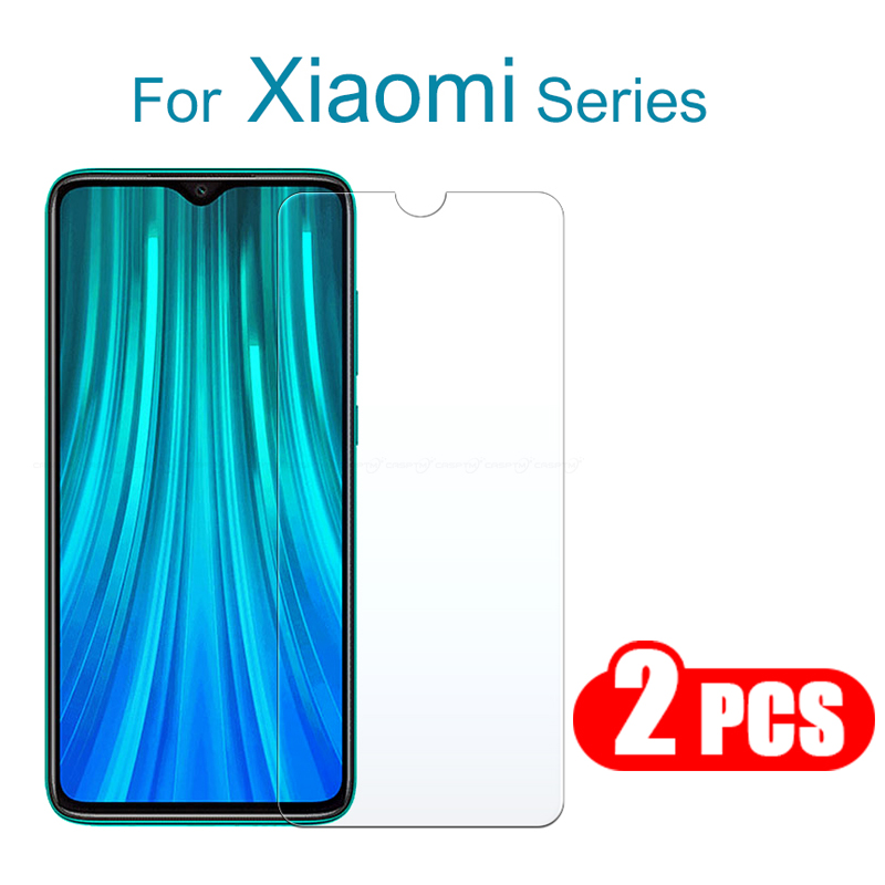 2PCS Screen Protector Glass For Redmi Note 8 Pro 8T HD Clear Protective Film For Redmi 8 8A Tempered Glass 8T Protection Film