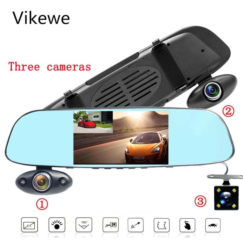 Car Camera 5.0/'/' Dash Cam DVR Vehicle Security Rear View Mirror Video Recorder