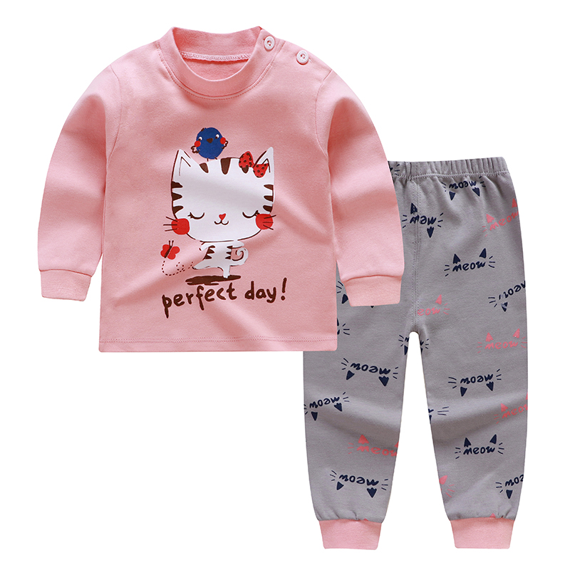 2 Pcs For Kids //Baby Boys Girls Clothes Top Pants Cotton Baby Pajamas Sleepwear