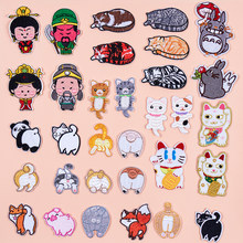 Cat Claw Cartoon Cute Kids Children Iron on Patch Embroidered Badges Stickers on Clothes Applique Patches for Clothing Sewing(China)