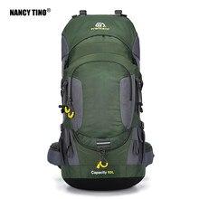 NANCY TINO 60L Climbing Backpack Night Reflection Design Men's Outdoor Hiking Bag Unisex Waterproof Mountain PackageBackpack
