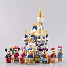 Микки мышь утка мультфильм 8 символов мини замок, домик блоки строительные блоки игрушка совместима с Lego