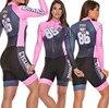 Terno de triathlon profissional, camiseta de ciclismo preta feminina, macacão, manga longa em gel, conjunto de ciclismo, 2019 26