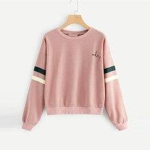 Women Autumn Winter Fashion Long Sleeve Sweatshirt Lettle Print Cat Casual Top Blouse 8.23