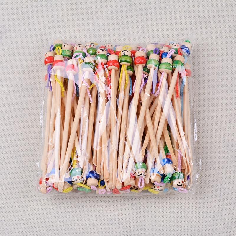 Accnic si glowa Earpick Yiwu Supply of Goods Bamboo Ear Cleaner in Bulk 100 Sticks Bag Ear Pick