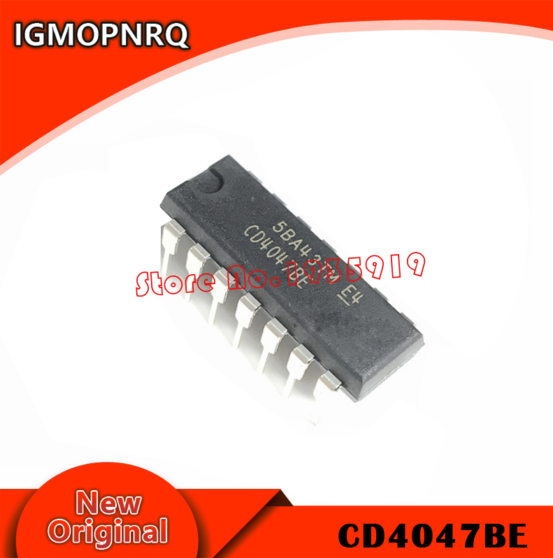 10pcs NEW CD4047BE CD4047 CMOS Monostable Multivibrators DIP14 DIP-14 TI IC
