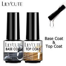Lilycute superior base casaco embeber fora gel unha polonês uv led extensão do prego construtor unha gel verniz transparente unha arte gel