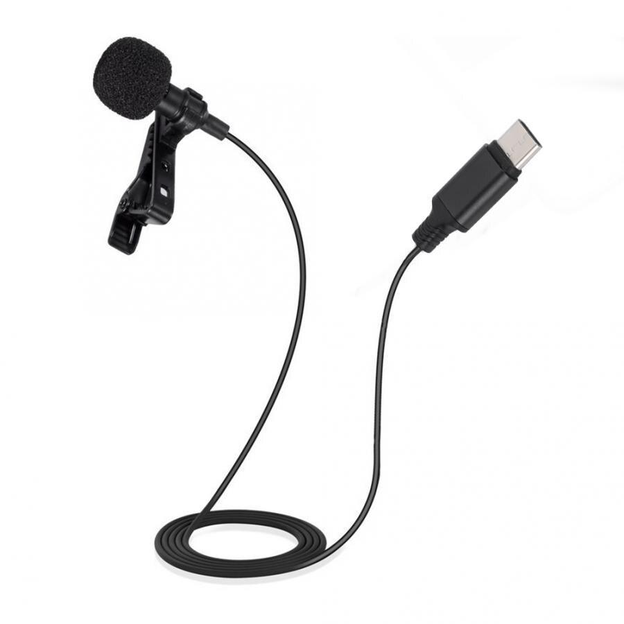 Microfone mini clipe no microfone tipo-c interface de áudio microfone de lapela para o telefone android