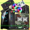 Building super computer HUANANZHI dual X79-8D motherboard with 500G SSD CPU Xeon E5 2680 V2 RAM 128G(8*16G) 700W PSU GTX1660TI