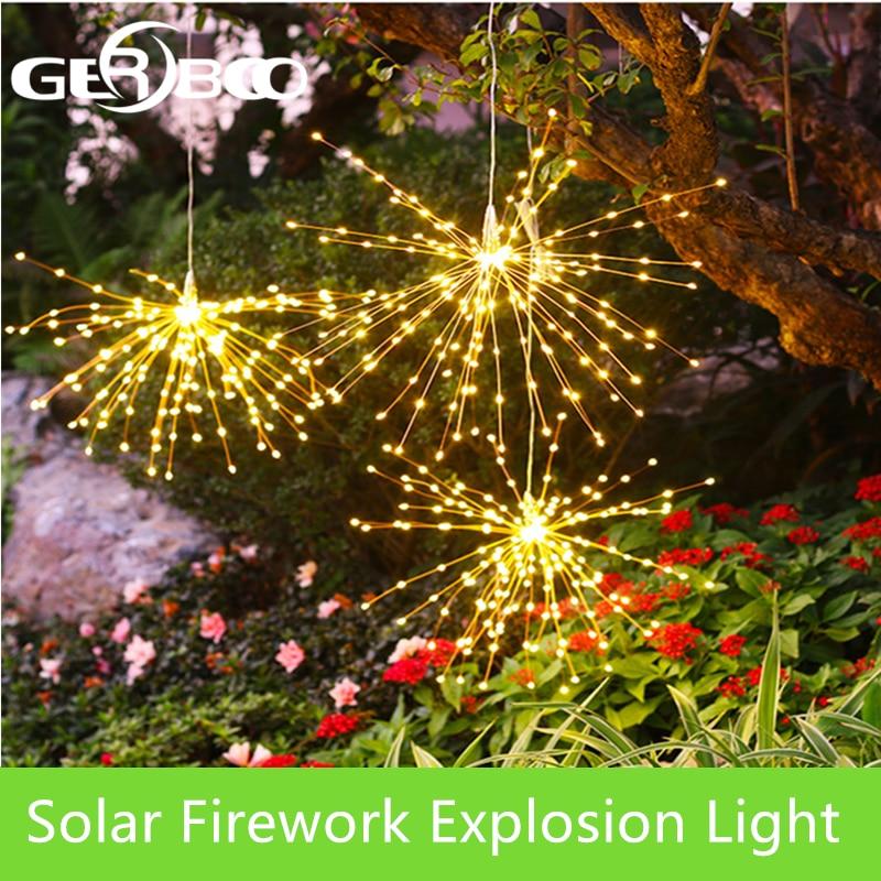 DIY Solar Fireworks String Lights For Garden Decoration Bouquet LED String Christmas Festive Fairy Lights Outdoor Solar Lamps