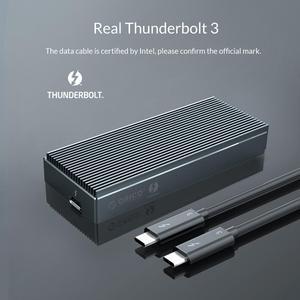 Image 3 - ORICO Thunderbolt 3 NVME M.2 SSD الضميمة 2 تيرا بايت الألومنيوم SSD حالة USB C مع 40Gbps Thunderbolt 3 C إلى C كابل لأجهزة الكمبيوتر المحمول سطح المكتب
