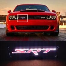 Carregador srt viper challenger emblema do carro capa dianteira grill grille bonnet logotipo luz led
