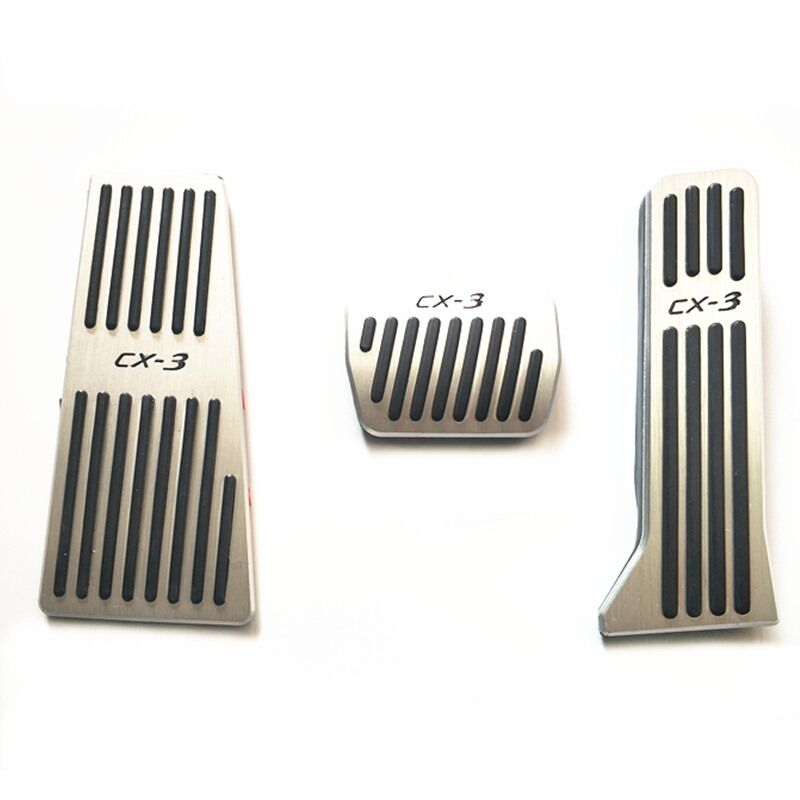 Auto footrest and gas accelerator pedal,brake pedal <font><b>for</b></font> <font><b>Mazda</b></font> <font><b>cx</b></font> 3 <font><b>CX</b></font>-3 2016-2017 <font><b>2018</b></font>, auto <font><b>accessories</b></font> image