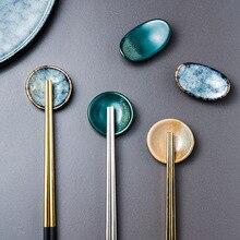 Держатель палочек для еды в виде Керамика для дома, Кухня палочки Отдых стенд японский декоративный эко-ложки вилки посуда Йоро