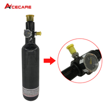 350cc 4500 psi Carbon Fiber SCBA Air Tank Cylinder for PCP Air Gun Hunting+regulator 6 8l carbon fiber scba paintball tank bottle cylinder 300 bar 4500 psi for breathing or pcp air gun filling black boot