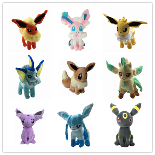 Eevee Go Plush Toys Figure Soft Stuffed Animal Pets Doll  Umbreon Eevee Espeon Jolteon Vaporeon Flareon Glaceon Leafeon