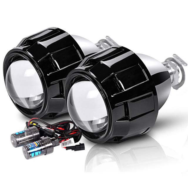 Mini projecteur au xénon Bi, HID, 2.5 pouces, objectif de projecteur, rénovation, lentilles pour phare H7 H4 avec H1 ampoules pour phare au xénon, pour voiture