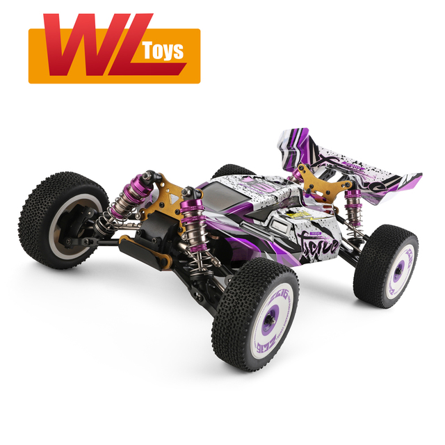 Wltoys 124019 High Speed Racing Car 60km/h 1/12 2.4GHz RC Car Off-Road Drift Car RTR 4WD Aluminum Alloy Chassis Zinc Alloy Gear 1