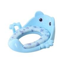 Portable Baby Potty Travel Toilet Add Soft Mat Baby Toilet Kids Training Potty Infant Chair Toilet Seat Pot