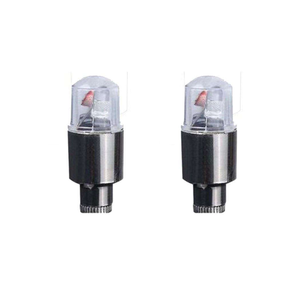 Led valve stem cap plastic Yellow 2 per pack light up when tire spin