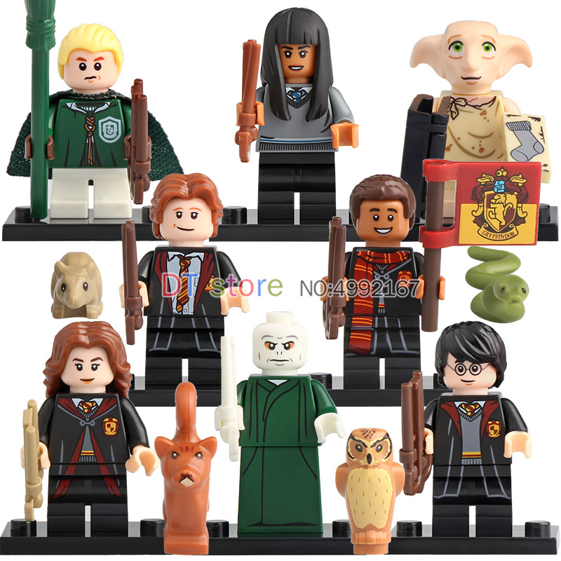 50pcs Building Blocks Harry Series Potters Dobby Moody Quirrell Filch Voldemort Dean Thomas Pop Toys for children Gifts WM6040