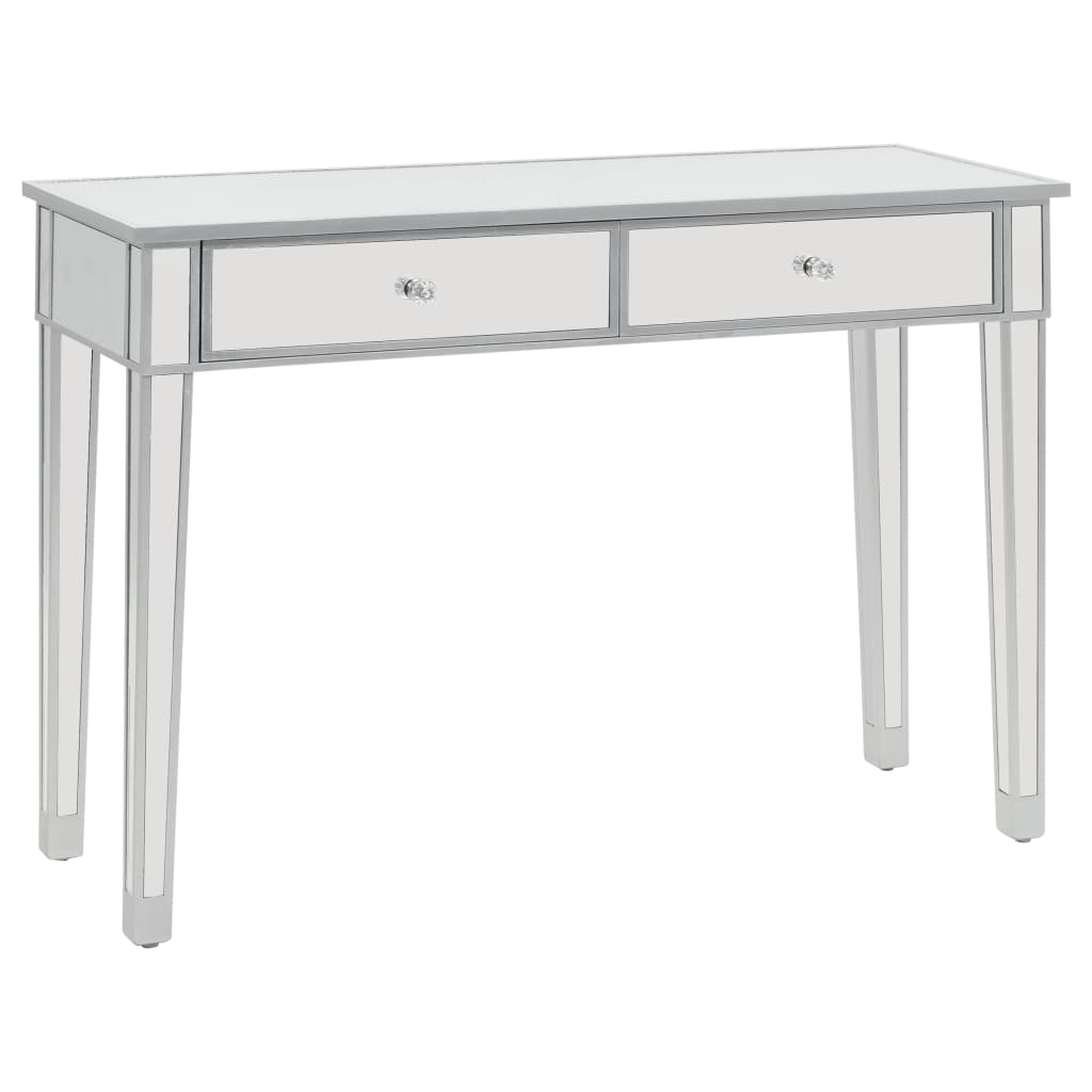 VidaXL Mirrored Console Table MDF And Glass 106.5x38x76.5 Cm