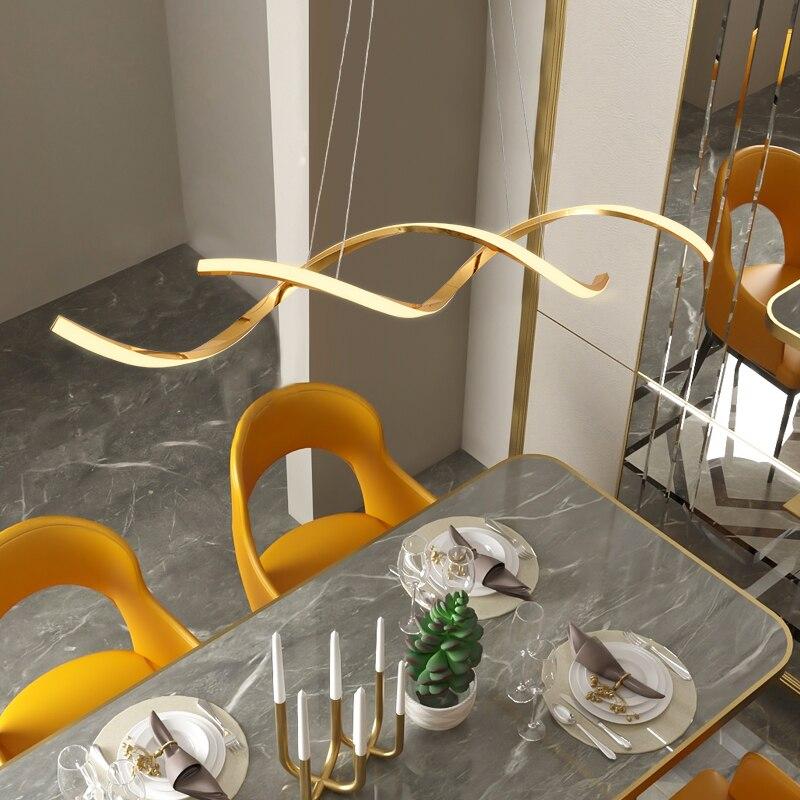 Bicromato di potassio Placcato Oro Appeso NEW Modern Lampade a sospensione Per La Sala da pranzo Cucina In Camera Home Deco Apparecchio Lampada a Sospensione apparecchio - 6