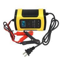 Carregador de bateria automático completo do carro 110 v a 220 v a 12 v 6a lcd rápido esperto para o carregamento de baterias acidificadas ao chumbo da motocicleta do automóvel
